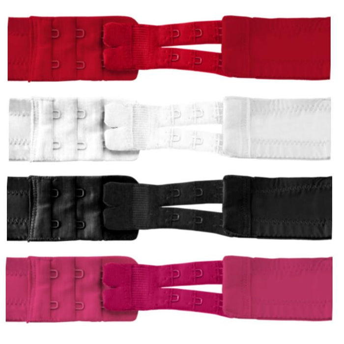 Flexible Bra Extenders 2-hook 4 Colors