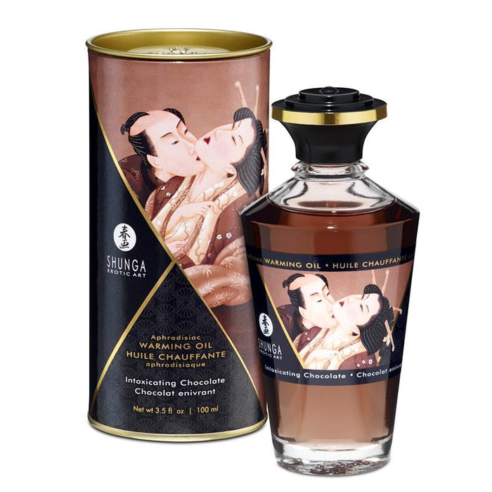 Shunga Warming Massage Oil Chocolate Aroma