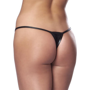 Micro Thong Black Size One Size