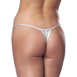 Micro Thong Silver Plated One Size