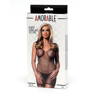 Fishnet Dress with G-String One Size