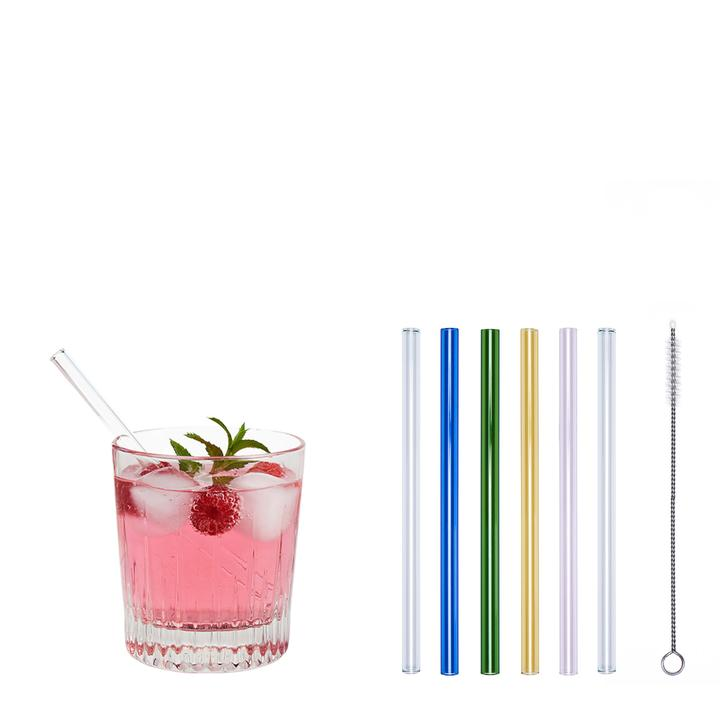 Glass drinking straw reusable