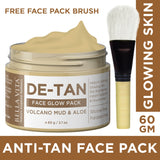 De-Tan Mud Face Glow Pack for Whitening & Tightening Skin, 60g