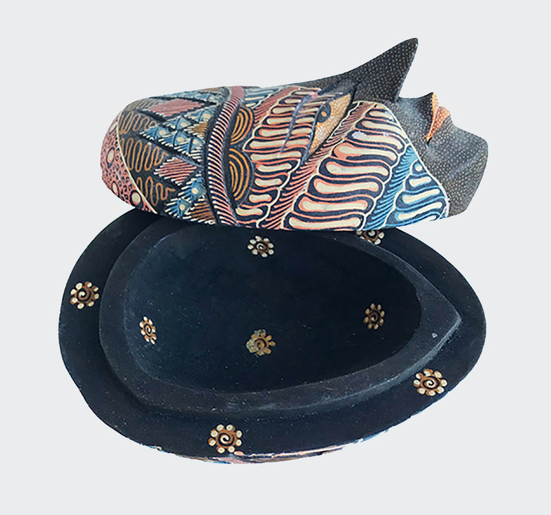 This image shows the magnificent Wajah jewelry container with the lid off.