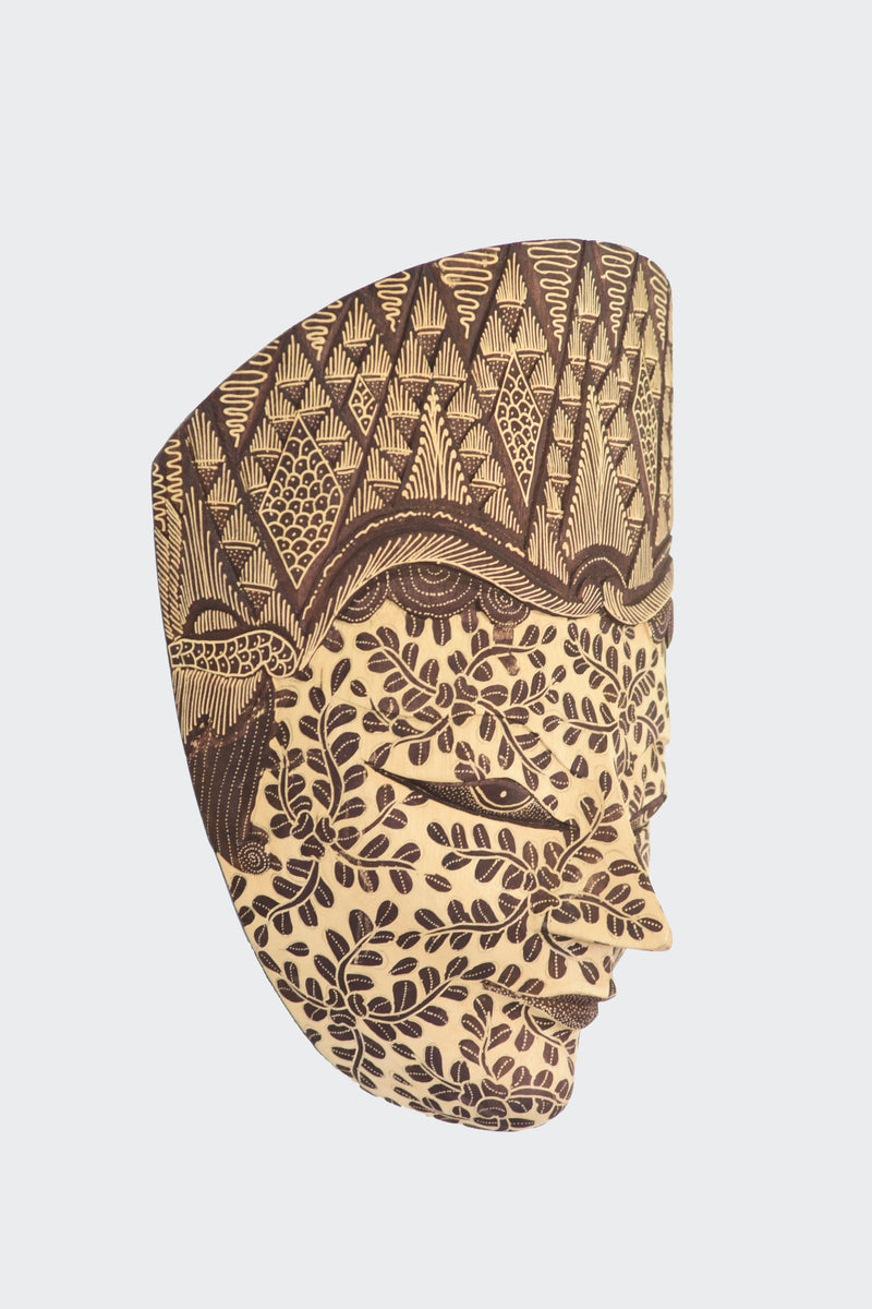 This image shows the side view of the Wall Decor Panji Mask.