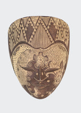 This image shows the front view of the Wall Decor Panji Mask.