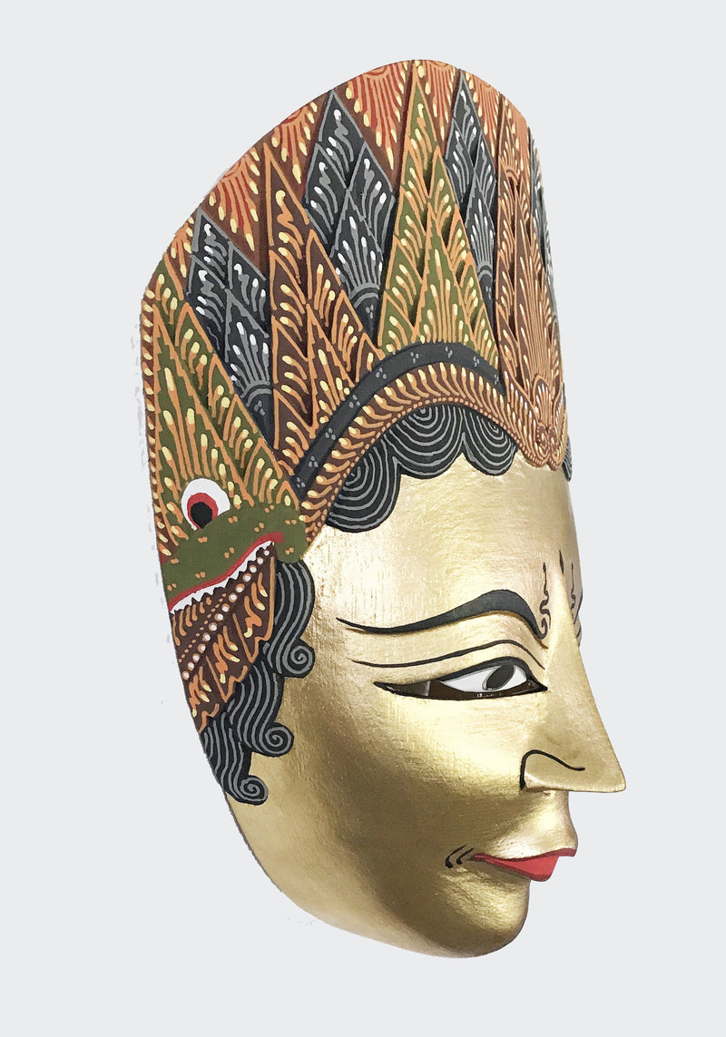 This image shows the side view of the Wall Decor Shinta Mask.
