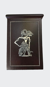 This image shows the elegant Wayang Art Pen Holder Desk Organizer side view of the Wayang