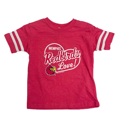 Memphis Redbirds Toddler Hot Pink T-Shirt