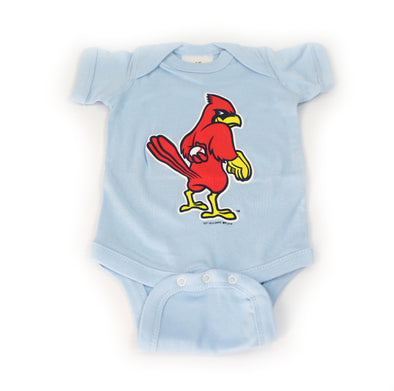 Memphis Redbirds Powder Blue Dirty Bird Onesie