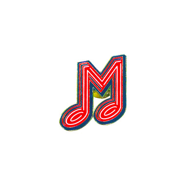 Memphis Redbirds Music M Lapel Pin