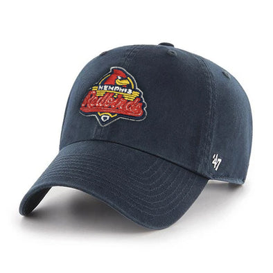 Memphis Redbirds I '47 Brand Clean Up I  Primary Logo I Navy I Adjustable Hat