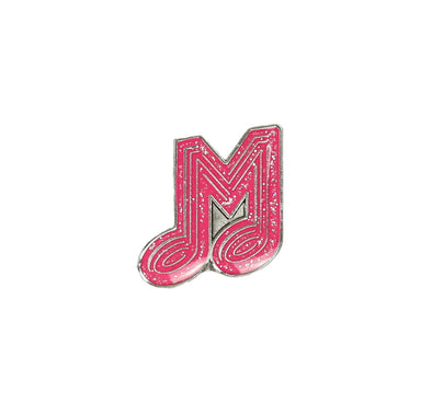 Memphis Redbirds Glitter Music M Lapel Pin