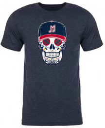 Memphis Redbirds 108 Stitches Sugar Skull Tee