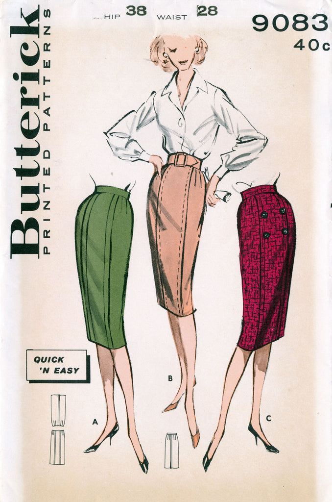 061848841 #Makenine2019: Butterick 9083. The perfect pencil skirt? – The Blue Gardenia