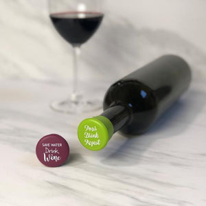 Capabunga Wine Cap Set Save Water/Pour Drink Repeat