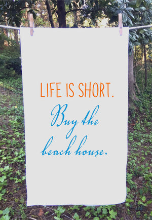 SACK TOWEL/LIFE SHORT BUY BEACH HOUSE