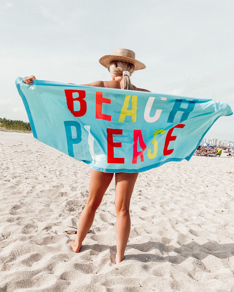 Beach Please Quick Dry Towel
