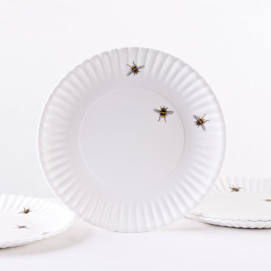 Melamine Bee Plate, Set of 4
