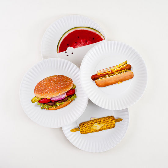 Melamine Picnic Plate, Set of 4