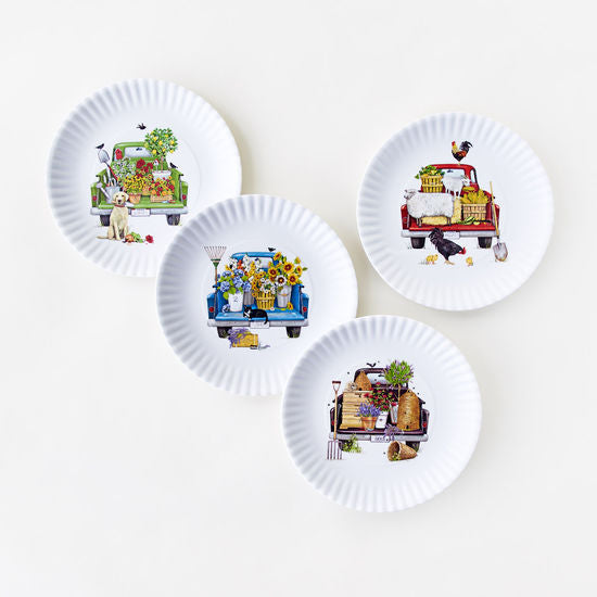 Melamine Truck Plate, Set of 4