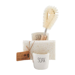 Sponge and Brush Sink Caddy Set