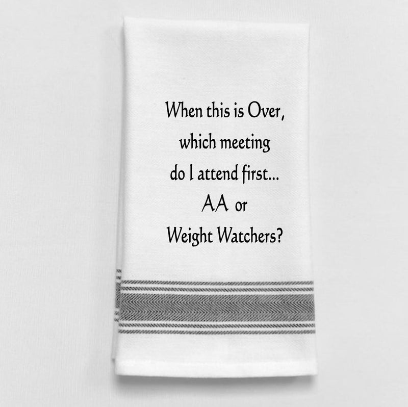 AA or Weight Watchers Towel