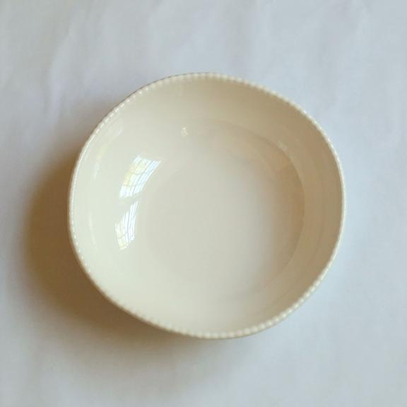 Melamine Beaded Serving Bowl Cream