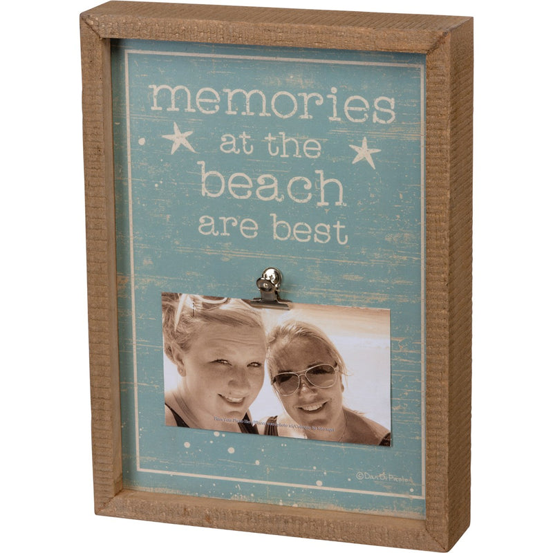 Inset Box Frame - Memories At The Beach
