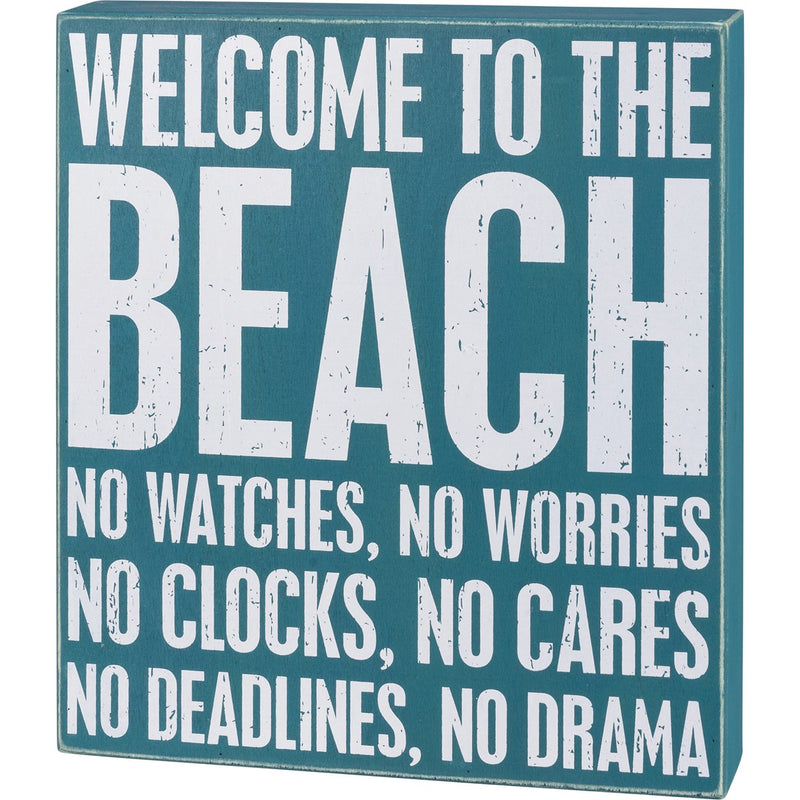 Box Sign - Welcome To The Beach