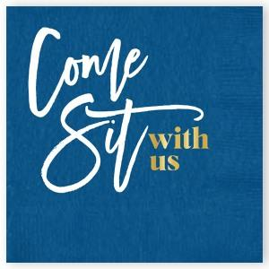 COME SIT WITH US BEVERAGE NAPKIN - pack of 20