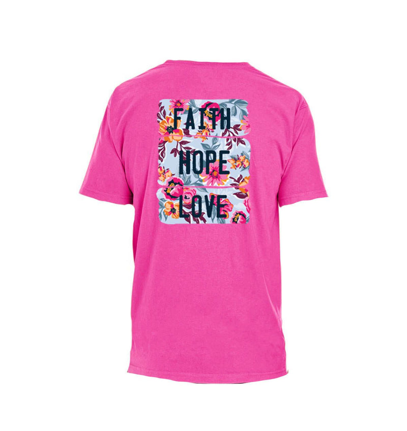 Faith, Hope, Love Peony T-Shirt