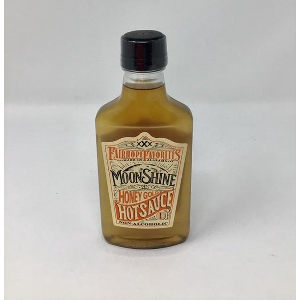 Honey Gold Moonshine Hot Sauce Small Flask
