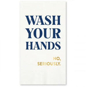 Seriously Wash Hands Guest Towels