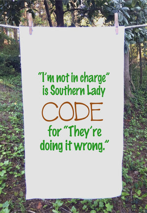 "Sack Towel ""Southern Lady Code"""