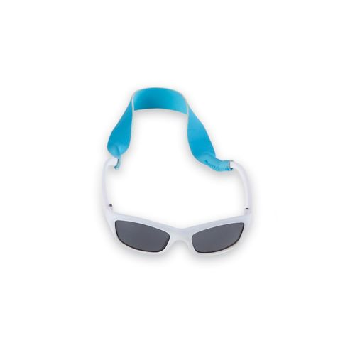 White Sunglasses and Strap Set