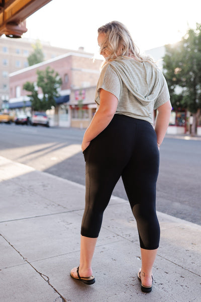 Train with Me Black Capri Leggings