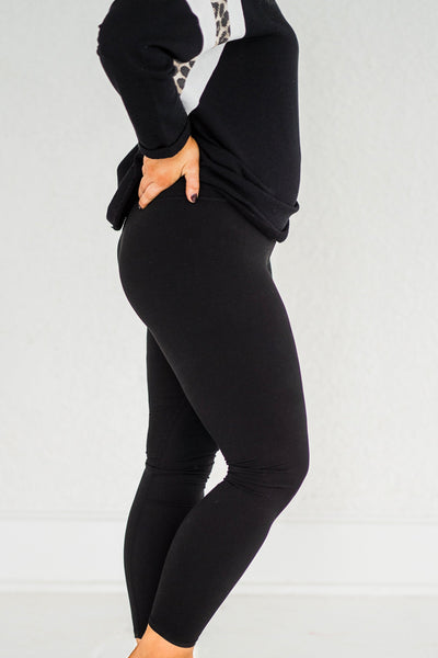 Fleece Be With You Yoga Pants In Black