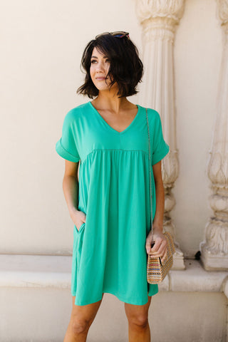 Cute & Comfy Dress in Green