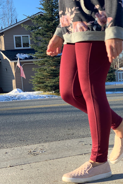 Ready To Roll Leggings in Burgundy