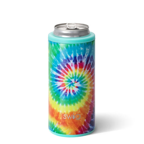 Swirled Peace Combo Swig 12oz Skinny Can Cooler