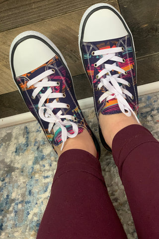 Purple Aztec Sneakers