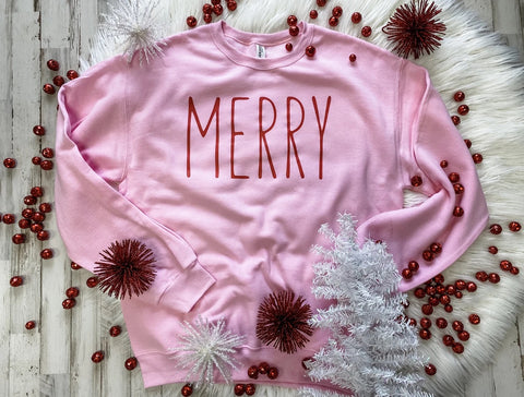 Merry Pink Sweater