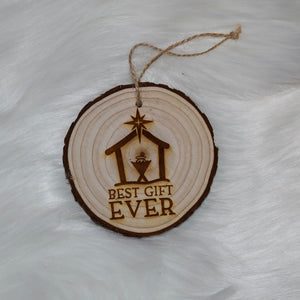 Best Gift Ever Wood Ornament