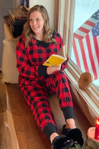 Buffalo Plaid Lounge Set