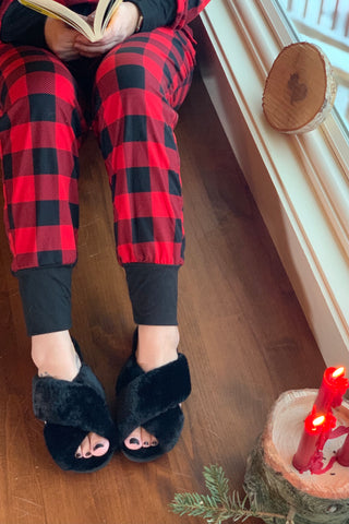 Always Cozy Criss Cross Slippers
