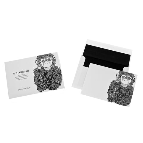 Chimp Stationery 20 ct. Set