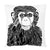 Chimp Throw Pillow