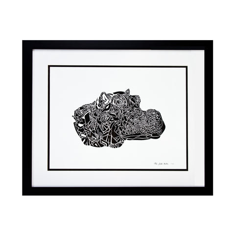 Limited Edition Print Hippo