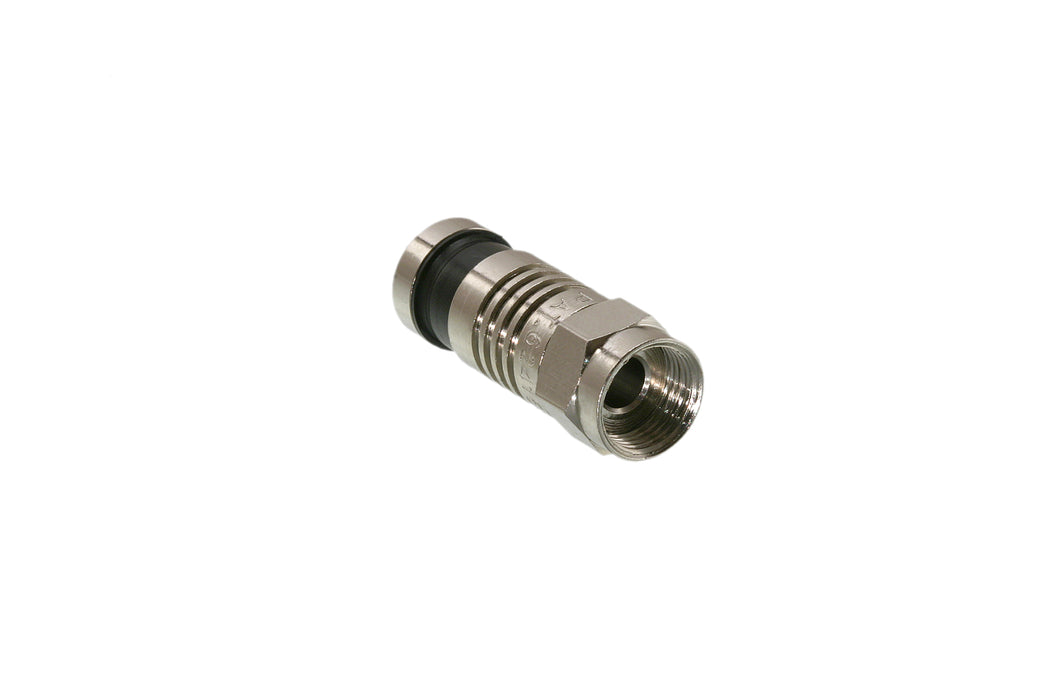 F Compression Connector,  Male,  75 Ohm,  10 Pack - (0406-6CSQSTP)